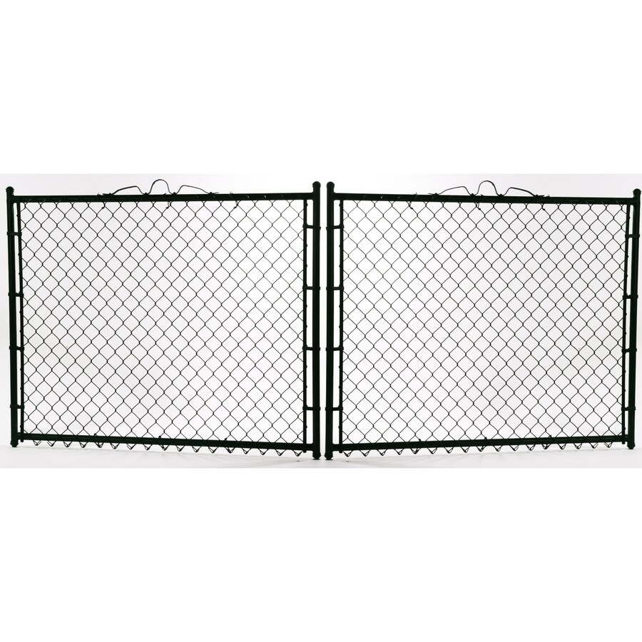 (Common: 4-ft x 10-ft; Actual: 4-ft x 9.5-ft) Vinyl Coated Steel Chain-Link Fence Gate