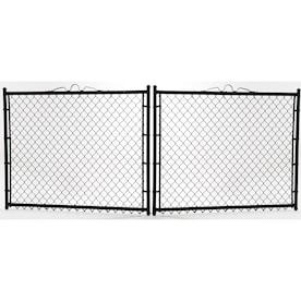 (Common: 4-ft x 10-ft; Actual: 4-ft x 9.5-ft) Vinyl Coated Vinyl-Coated Steel Chain-Link Fence Gate