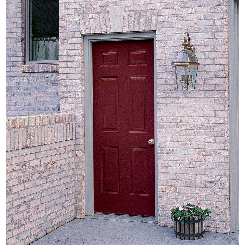 Shop Prosteel 32 Left Hand Outswing 6 Panel Steel Entry Door Unit At