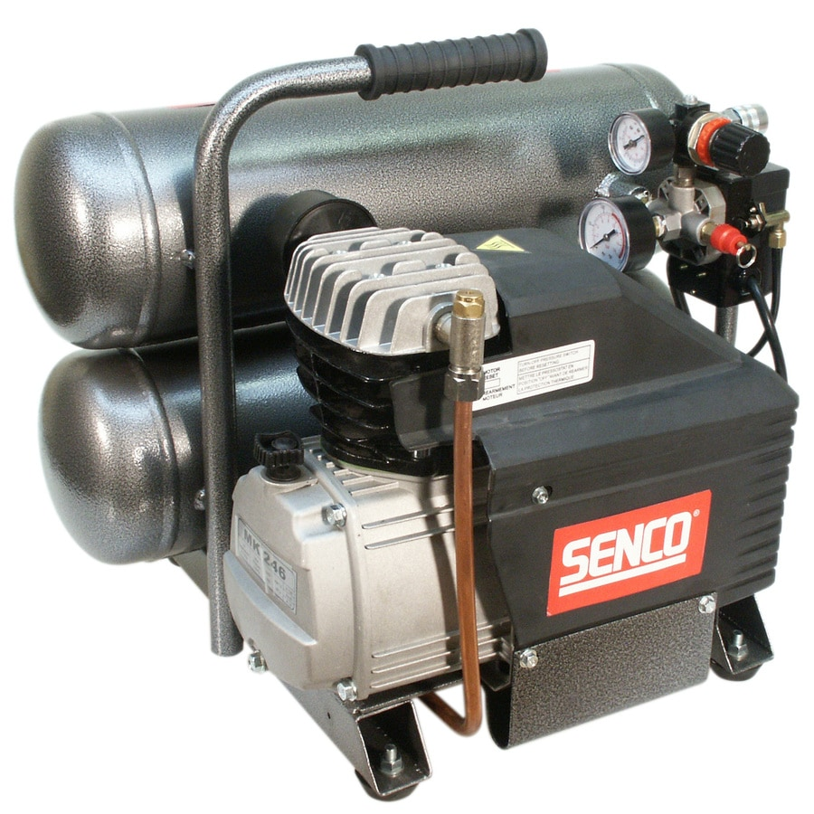 SENCO 4.3-Gallon 115-Volt Twin Stack Portable Electric Air Compressor