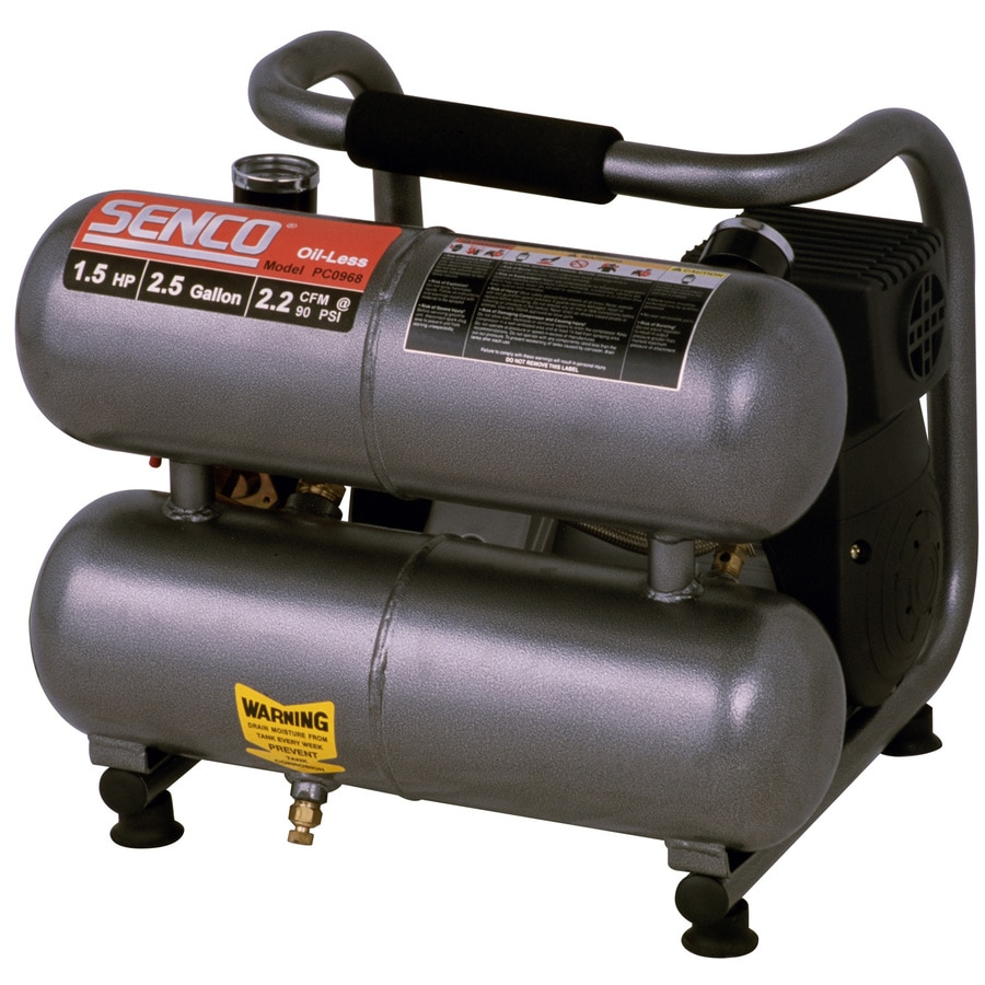 SENCO 2.5-Gallon Portable Electric Twin Stack Air Compressor