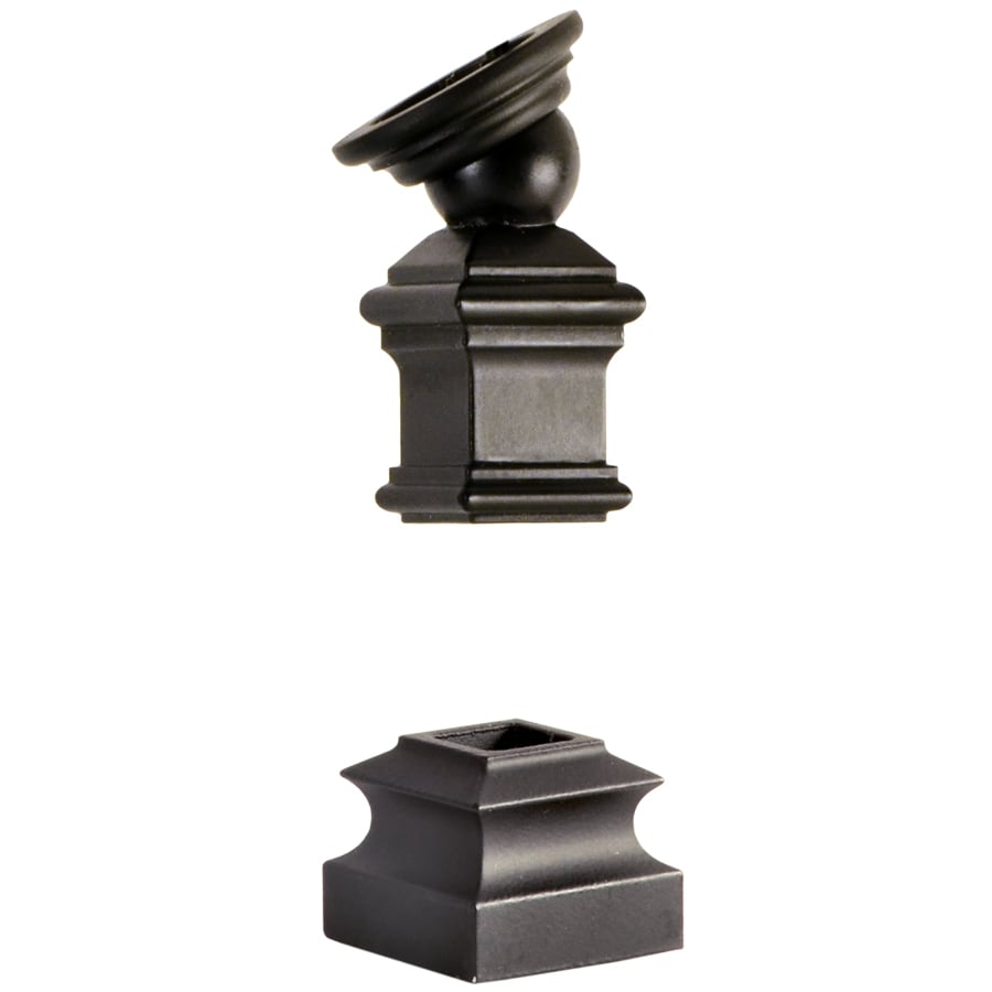 L.J. Smith Stair Systems Satin Black Wrought Iron Baluster Shoe