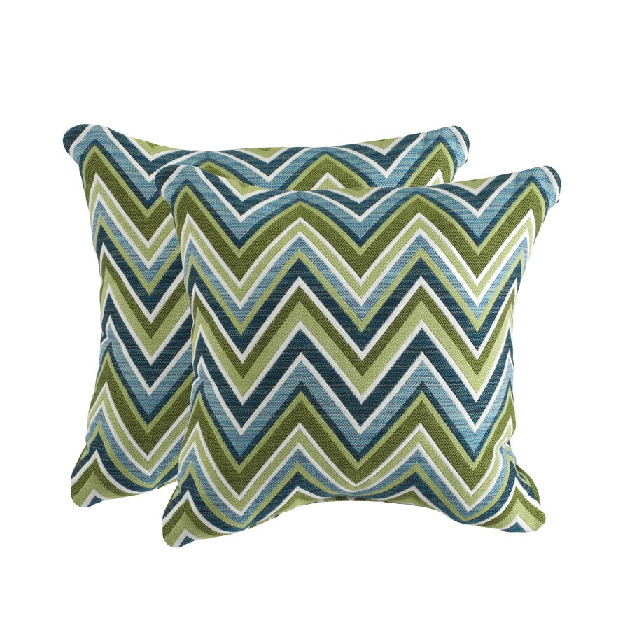 allen + roth Sunbrella 2-Pack Fischer Oasis Texture Square Throw Outdoor Decorative Pillow