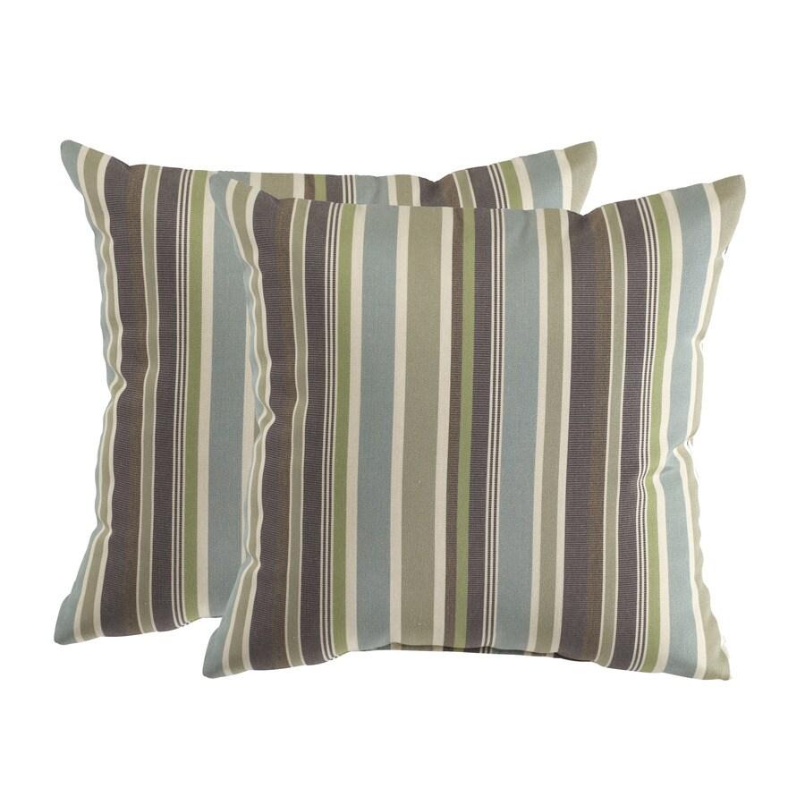 allen + roth Set of 2 Sunbrella Brandon Whisper UV-Protected Square Outdoor Decorative Pillows