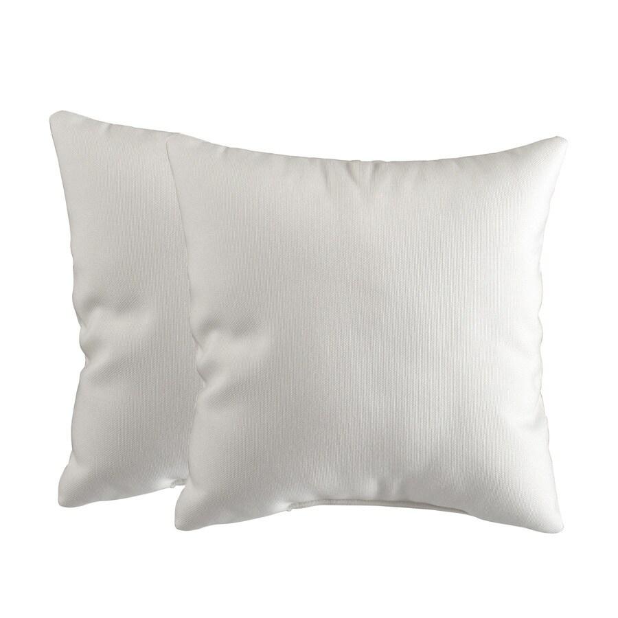 allen + roth Set of 2 Sunbrella Sailcloth Salt UV-Protected Square Outdoor Decorative Pillows