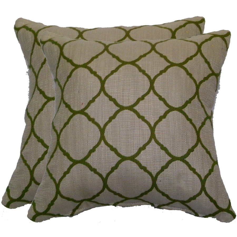 Allen + Roth 2 Pack Geometric Square Throw Outdoor Decorative Pillows