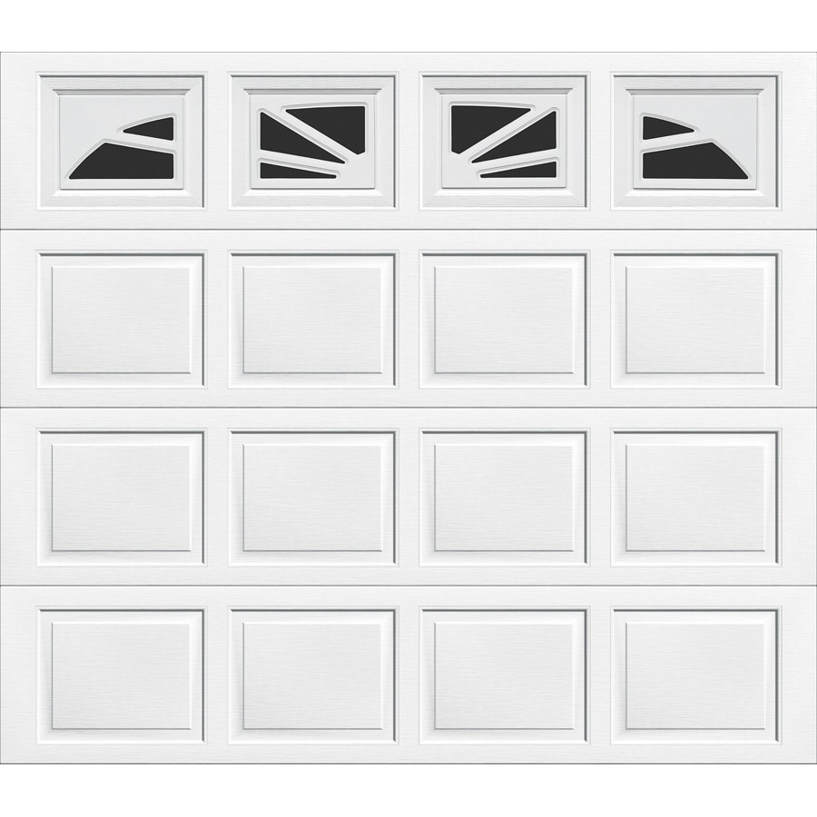 Wayne-Dalton 9100 Series 96-in x 84-in Insulated Single Garage Door with Windows