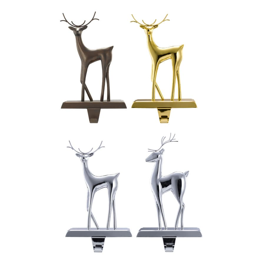 Holiday Living Deer Metal Christmas Stocking Holder