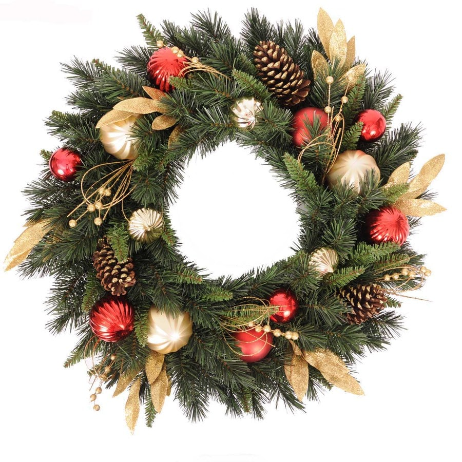 Holiday Living 30-in Green Artificial Wreath