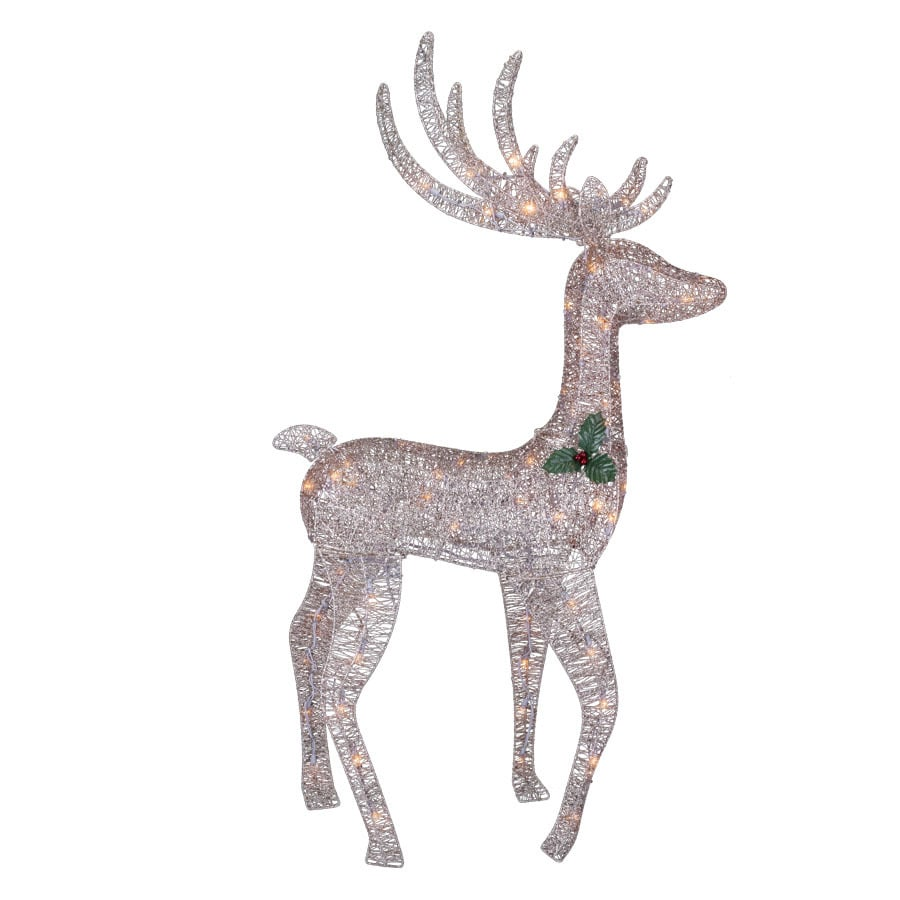 Holiday Living Pre-Lit Reindeer Sculpture with Constant White Lights