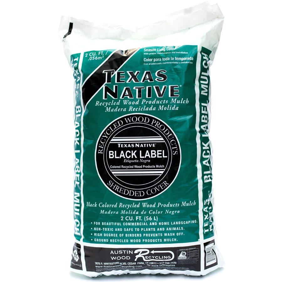 Texas Native 2-cu ft Black Shredded Hardwood Mulch