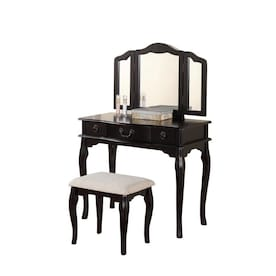 Fine Poundex Makeup Vanities At Lowes Com Gamerscity Chair Design For Home Gamerscityorg