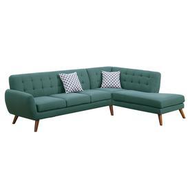 Poundex 2-pcs Sectional Sofa-Laguna-Polyfiber