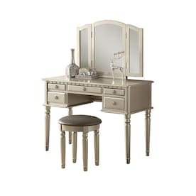 Magnificent Poundex Makeup Vanities At Lowes Com Pabps2019 Chair Design Images Pabps2019Com