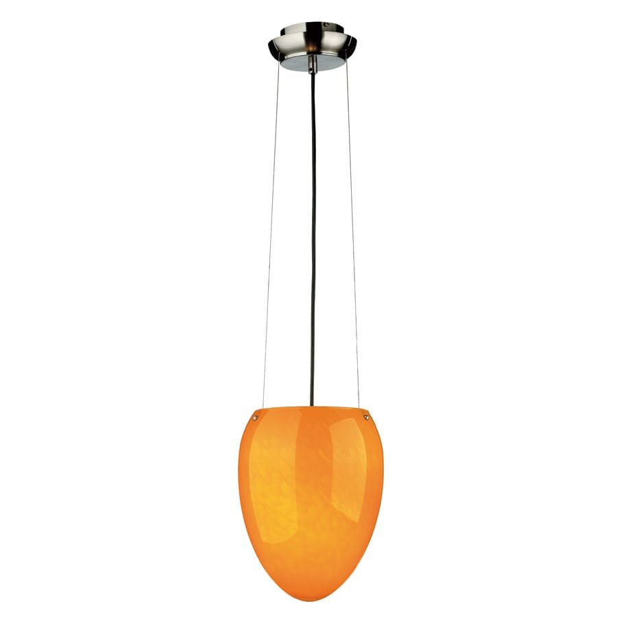 Philips Madison 10-in Satin Nickel Single Tinted Glass Pendant