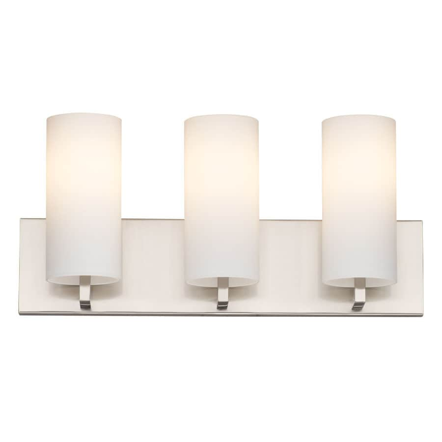 philips bathroom lighting shop philips cambria 3 light 8 25 in satin nickel vanity 13961