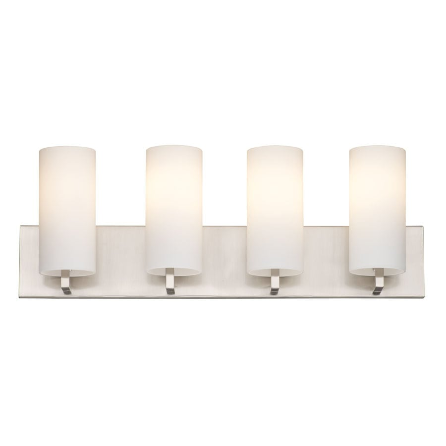 Vanity Light Refresh Kit 8 Bulb : Shop Philips Cambria 4-Light 8.25-in Satin Nickel Vanity Light at Lowes.com