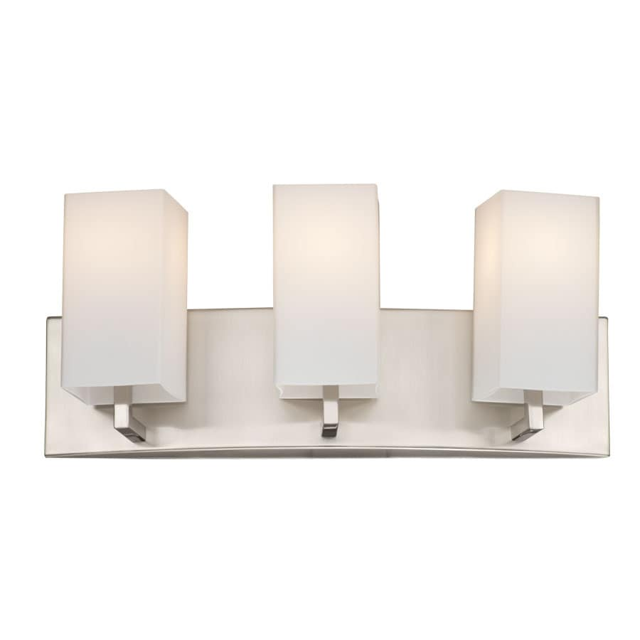 philips bathroom lighting shop philips avenue 3 light 7 75 in satin nickel vanity 13961