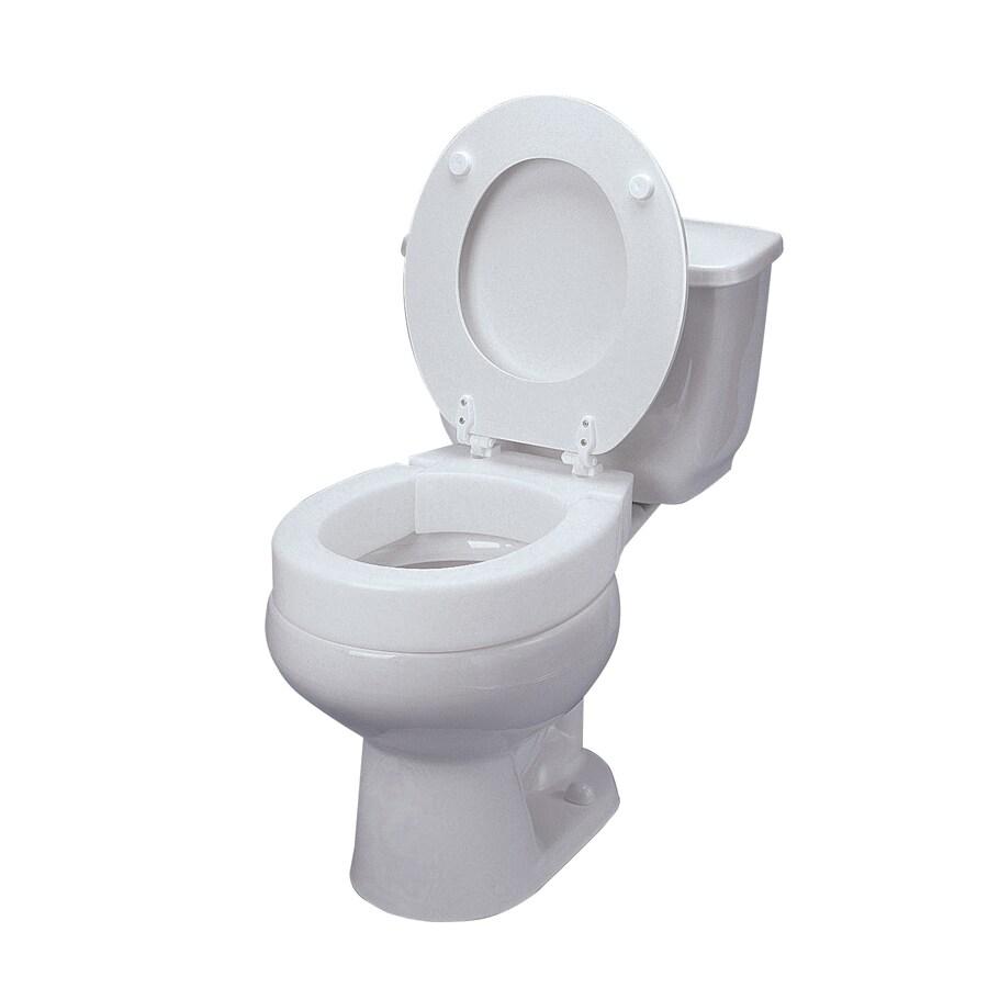 DMI White Plastic Round Toilet Seat