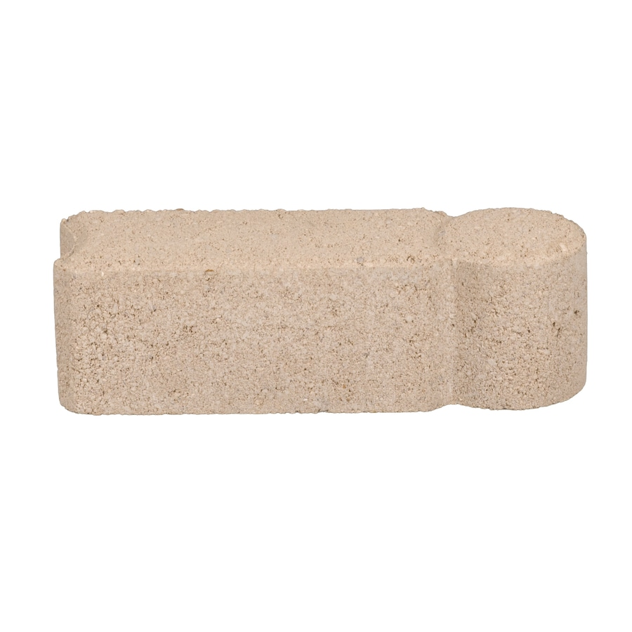 Landscaping Edging Stones Lowes : Bullet limestone straight edging stone common in