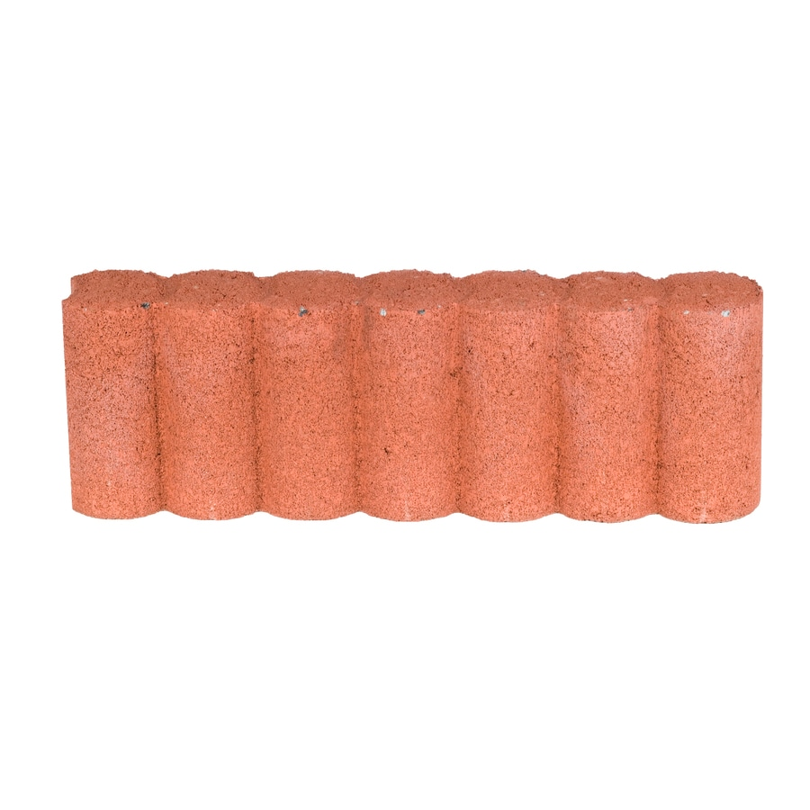 Fulton Red Matt Log Edging Stone (Common: 6-in x 16-in; Actual: 5.5-in x 16.1-in)