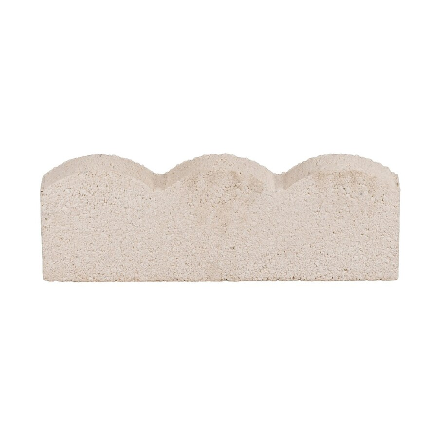 Scalloped White Straight Edging Stone (Common 16-in x 2-in; Actual: 15.6-in x 1.8-in)