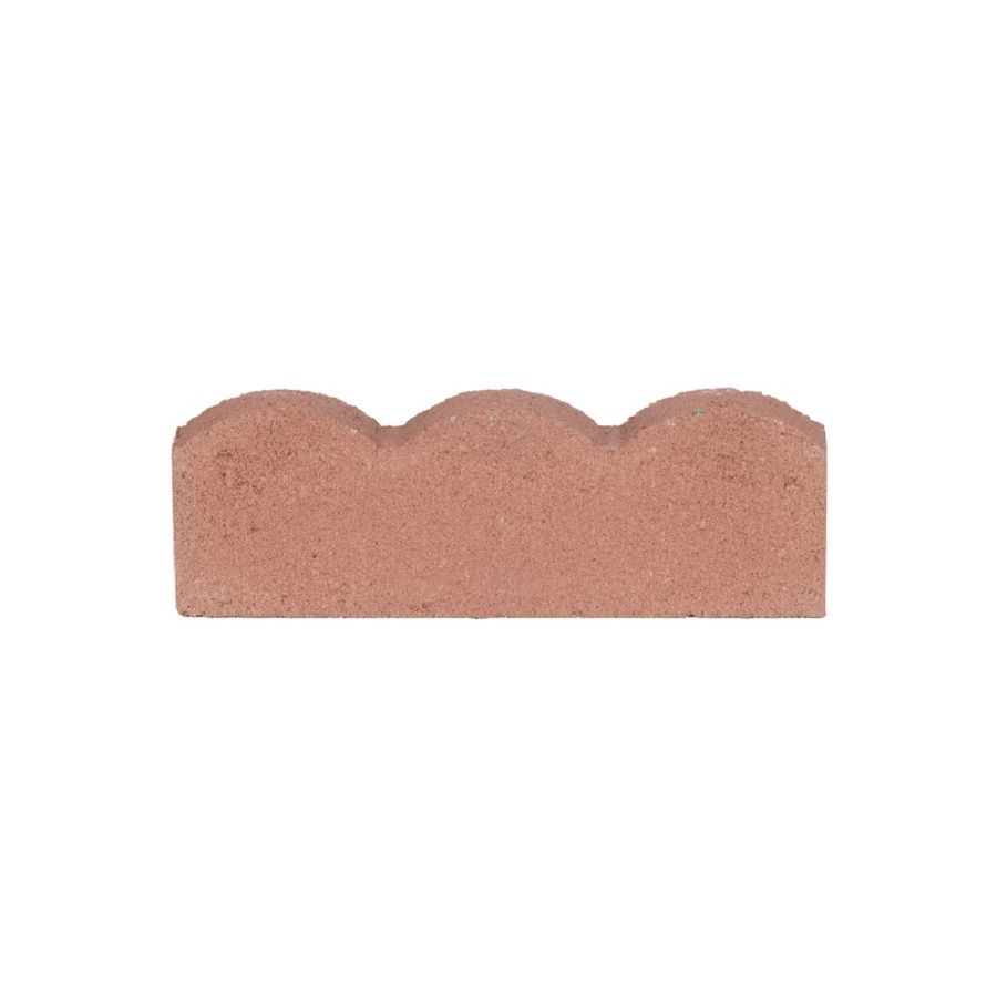 Flat Stone Edging: Shop Red Concrete Straight Edging Stone (Common: 6-in X 16