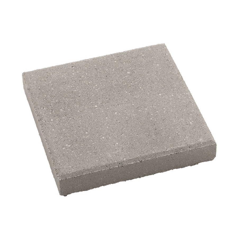 Square Gray Concrete Patio Stone Common 12 In X Actual