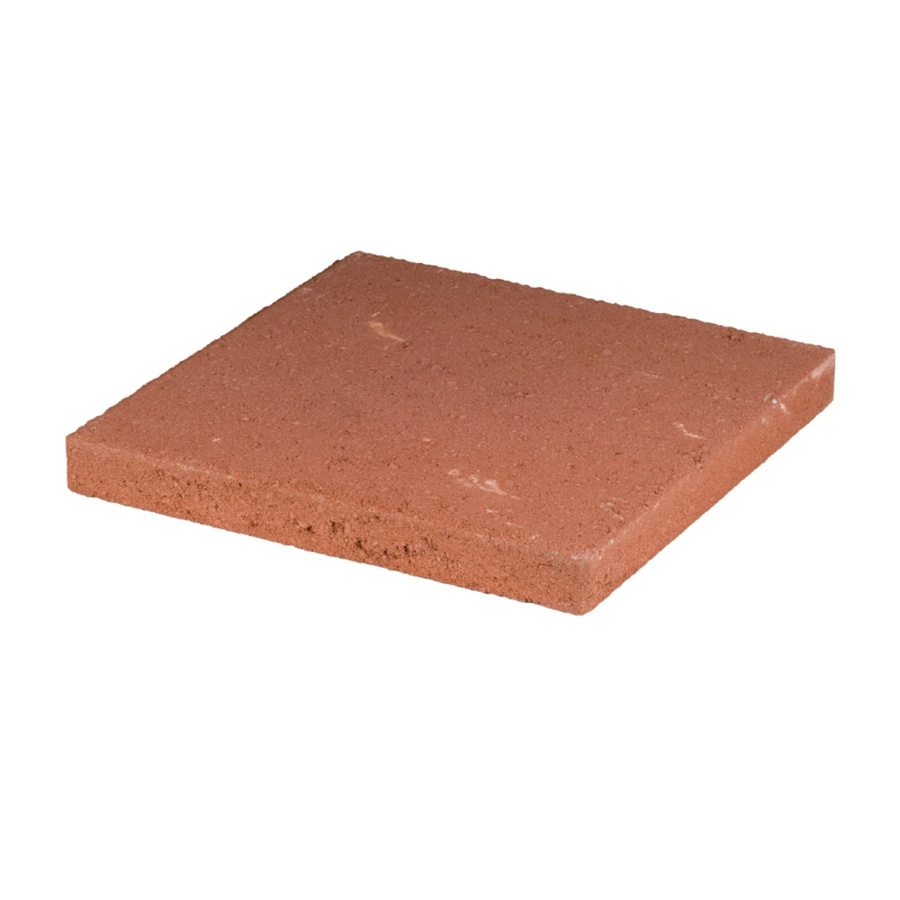 Square Red Concrete Patio Stone (Common: 16 In X; Actual: 15.7