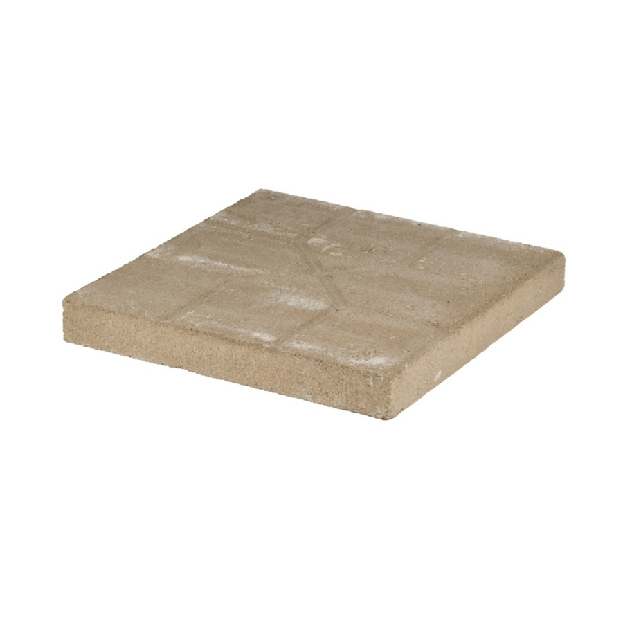 pinnacle tan patio stone common 16 in x 16 in actual 15 7 in x 15