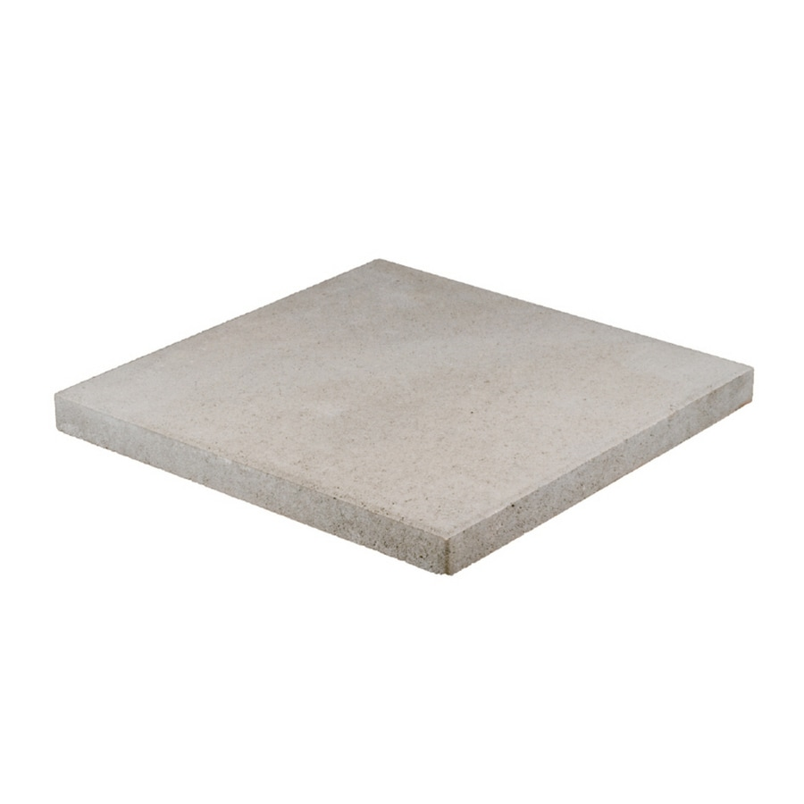 Square Gray Concrete Patio Stone Common 20 In X Actual
