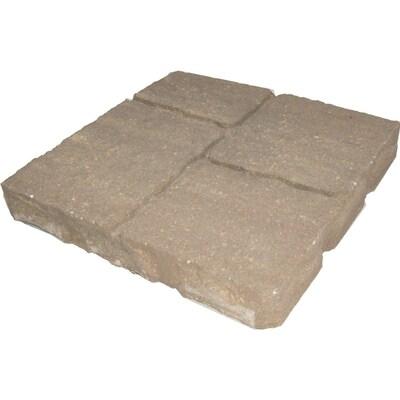 Four Cobble Harvest Blend Concrete Patio Stone Common 16