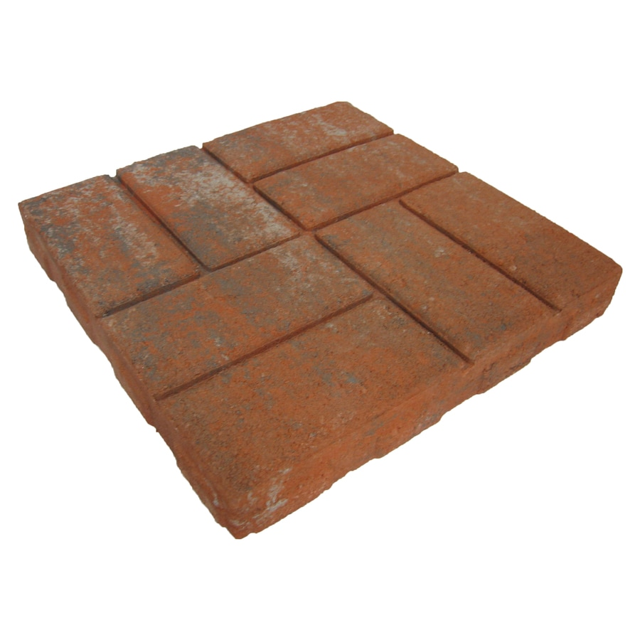 Weathered Brickface Red Patio Stone (Common: 16-in x 16-in; Actual: 15.5-in x 15.5-in)