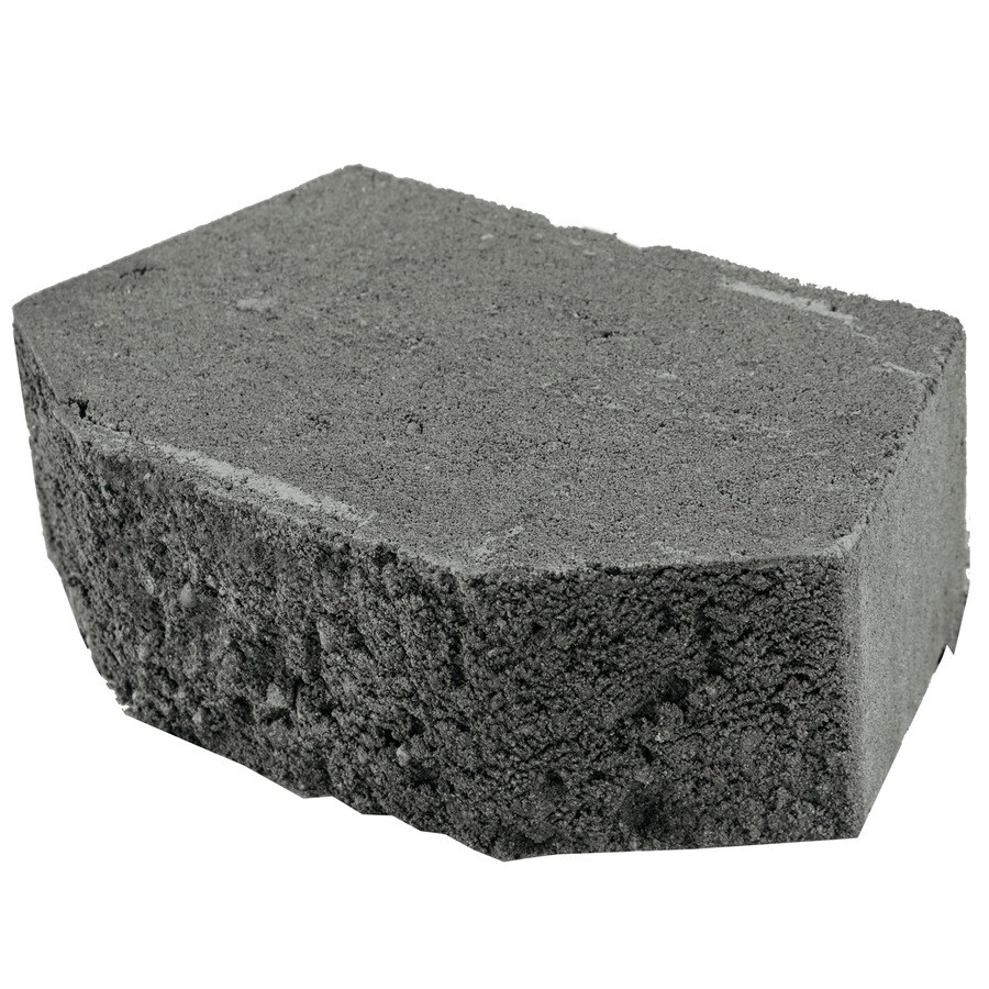Basic Charcoal Retaining Wall Block (Common: 4-in x 12-in; Actual: 4-in x 11.5-in)