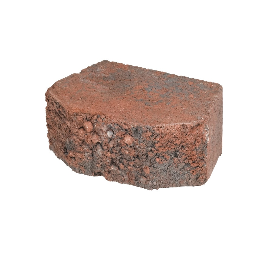 Lodgestone Red/Charcoal Retaining Wall Block (Common: 6-in x 8-in; Actual: 6.1-in x 8-in)