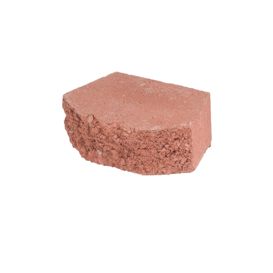 Lodgestone Red Retaining Wall Block (Common: 3-in x 8-in; Actual: 3-in x 8-in)