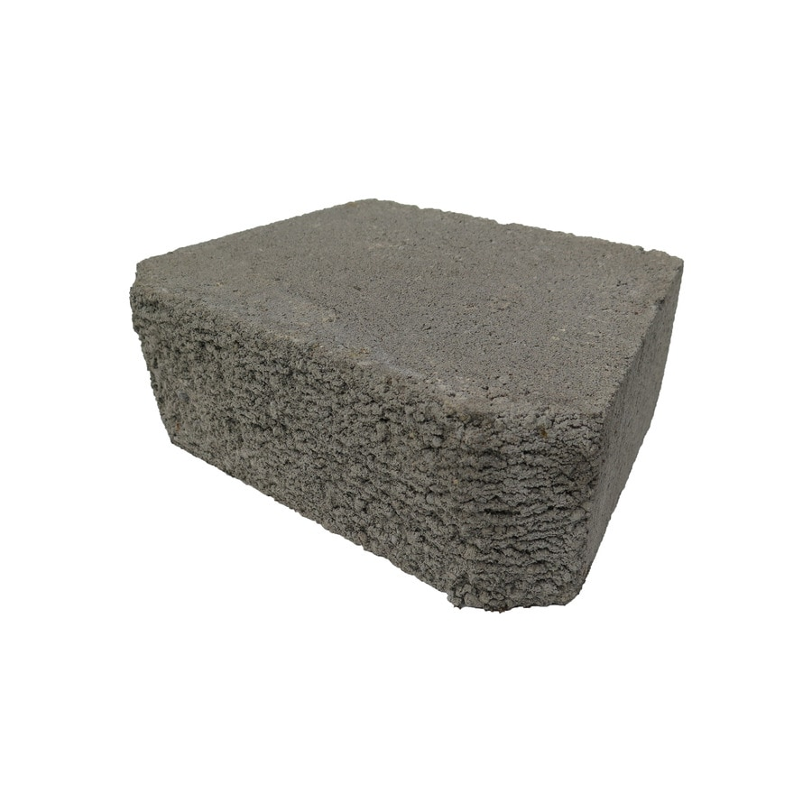 Basic Gray Retaining Wall Block (Common: 10-in x 12-in; Actual: 9-in x 11.5-in)
