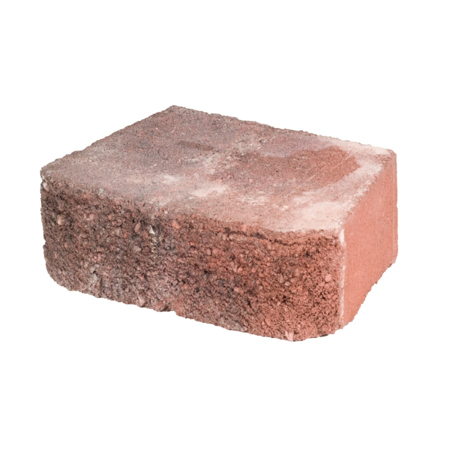 Basic Red Charcoal Retaining Wall Block (Common: 4-in x 12-in; Actual: 4-in x 11.5-in)