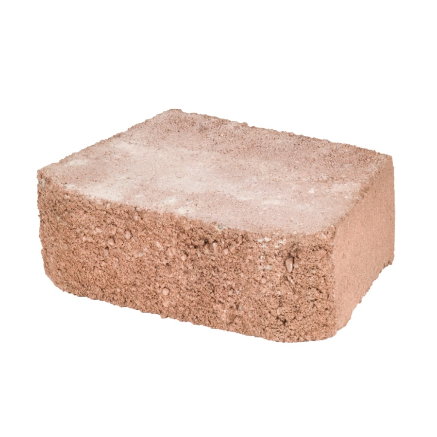 Basic Rose/Brown Retaining Wall Block (Common: 4-in x 12-in; Actual: 4-in x 13-in)