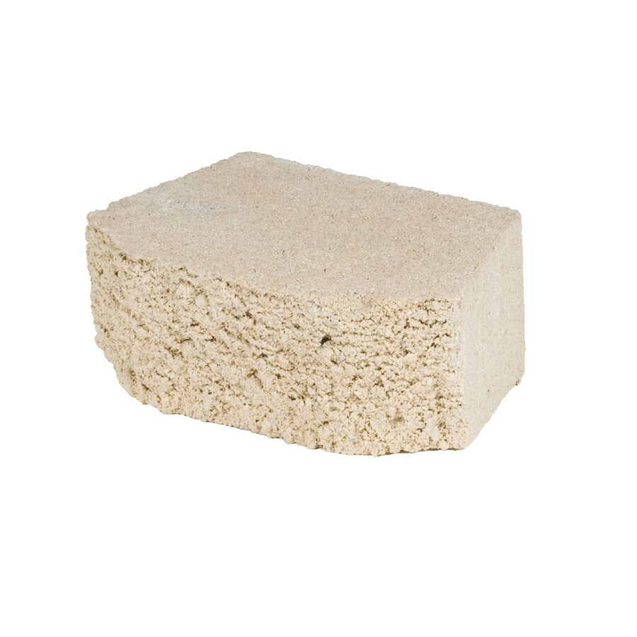 Lodgestone Sand Retaining Wall Block (Common: 3-in x 8-in; Actual: 3-in x 8-in)