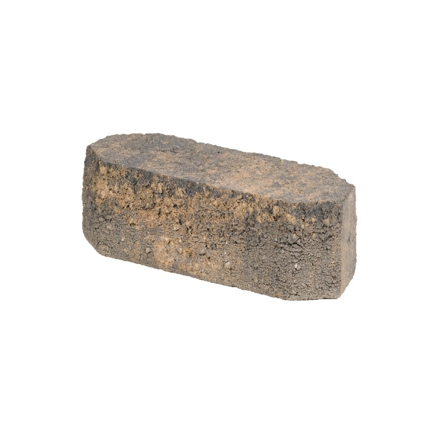 Oldcastle Tan/Charcoal Double Split Retaining Wall Block (Common: 12-in; Actual: 11.7-in)