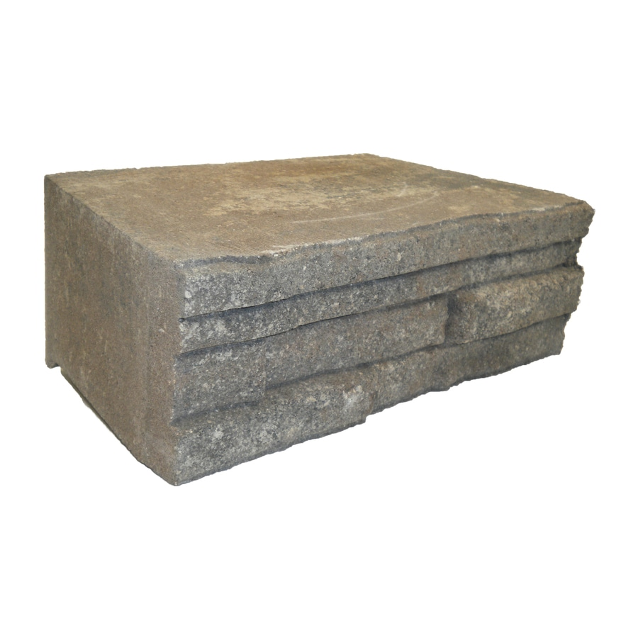 Ledgewall Oak Run Retaining Wall Block (Common: 10-in x 12-in; Actual: 9.2-in x 12.1-in)