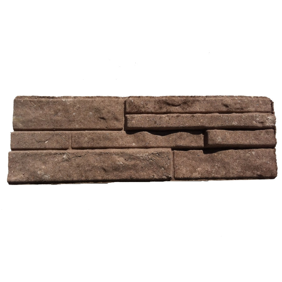 Ledgewall Limestone/Brown Retaining Wall Block (Common: 10-in x 12-in; Actual: 9.2-in x 12.1-in)