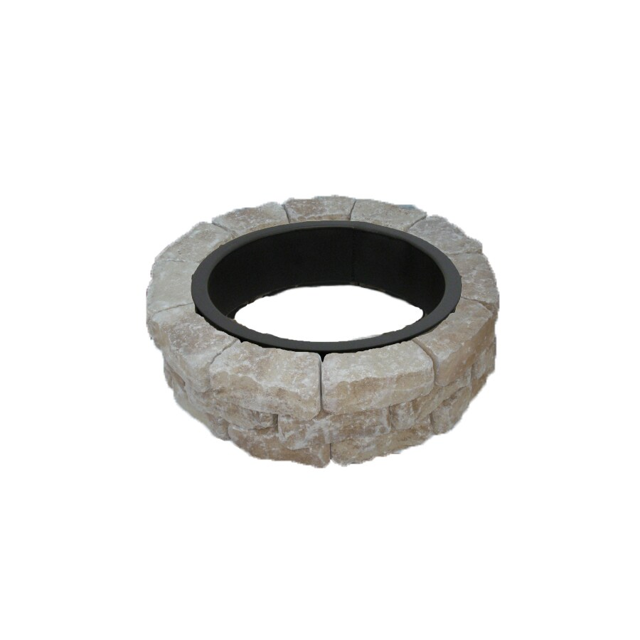 allen + roth Sand/Tan Flagstone Fire Pit Patio Block Project Kit