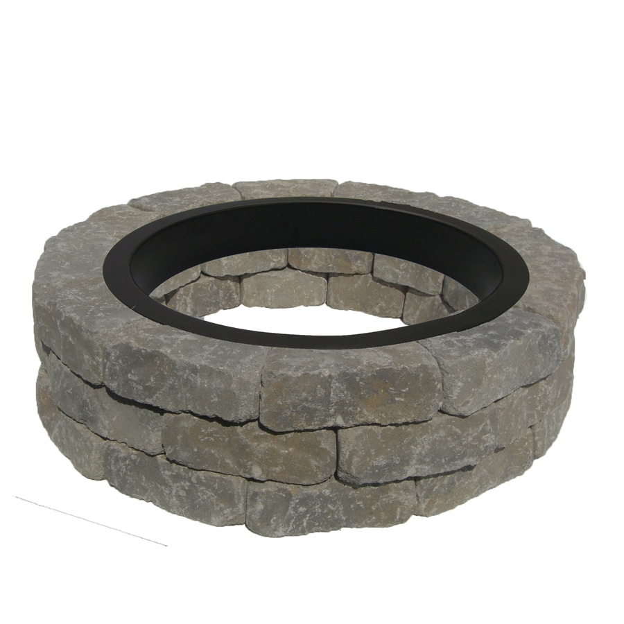 43 5 In W X 43 5 In L Allegheny Concrete Firepit Kit At Lowes Com