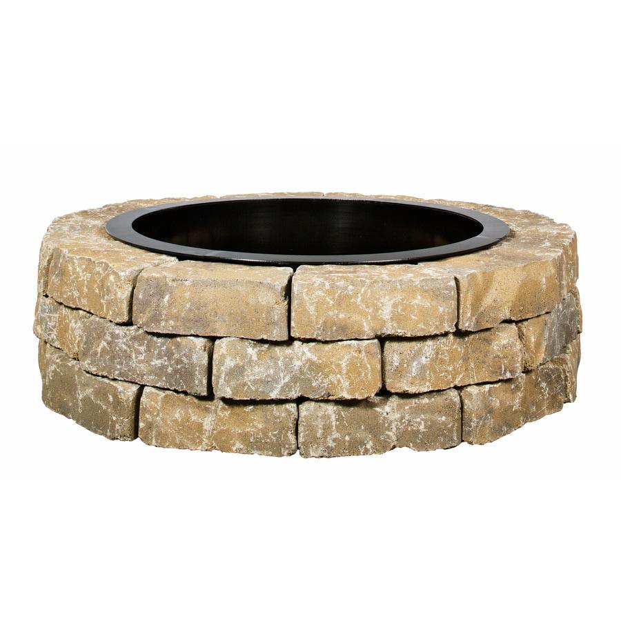 43.5-in W x 43.5-in L Britt Beige Concrete Firepit Kit