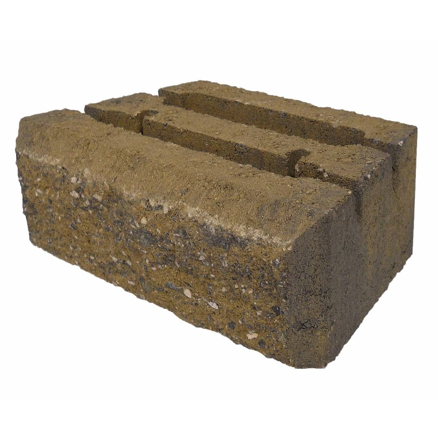 Insignia Tan/Charcoal Retaining Wall Block (Common: 9-in x 12-in; Actual: 8.6-in x 12-in)