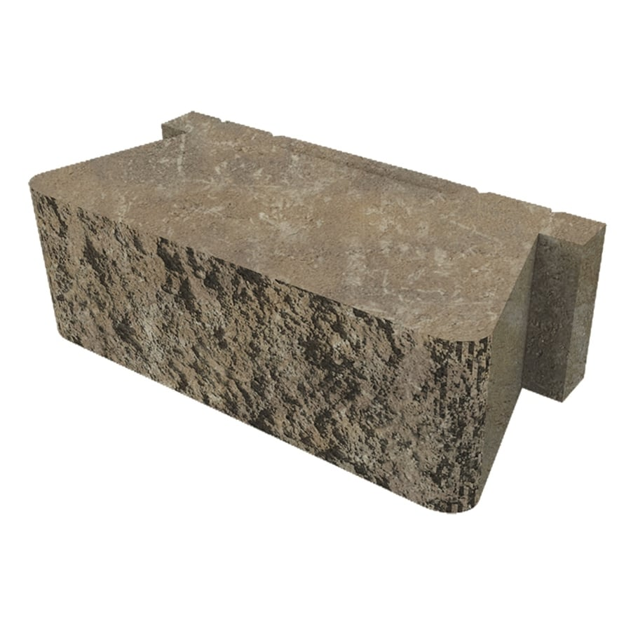 Belgard Palmer Wall Cotswold Mist Retaining Wall Block (Common: 16-in x 16-in; Actual: 16-in x 16-in)