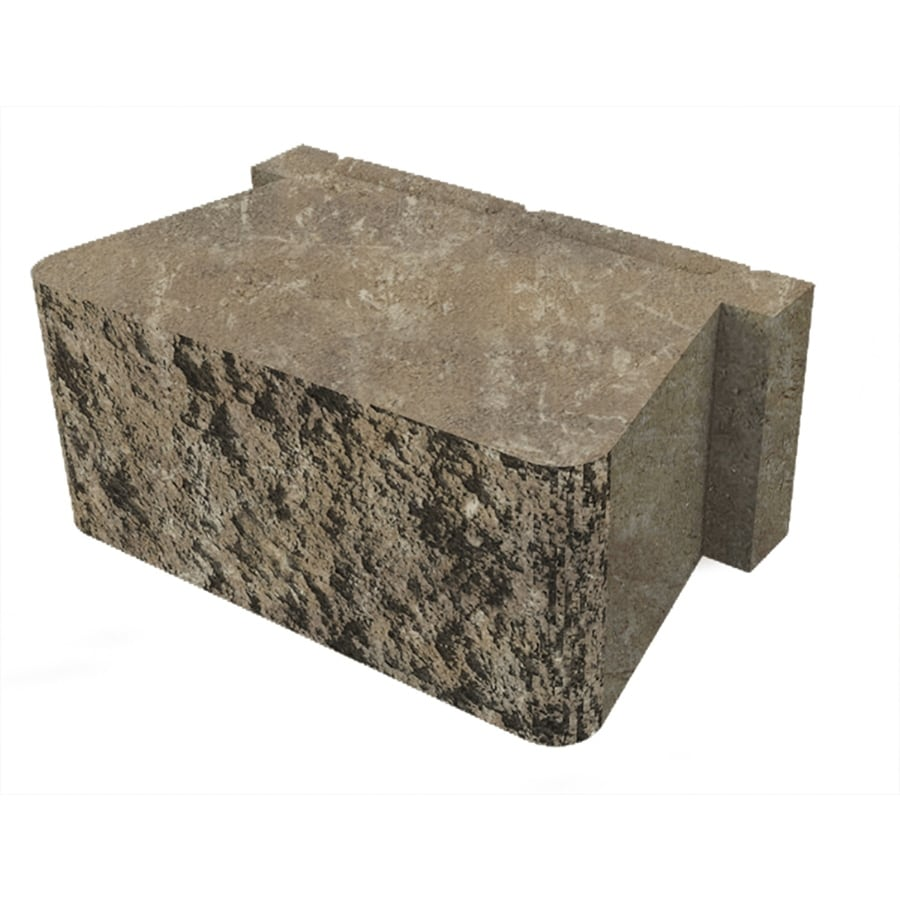 Belgard Palmer Cotswold Mist Retaining Wall Block (Common: 5-in x 12-in; Actual: 5.3-in x 12-in)