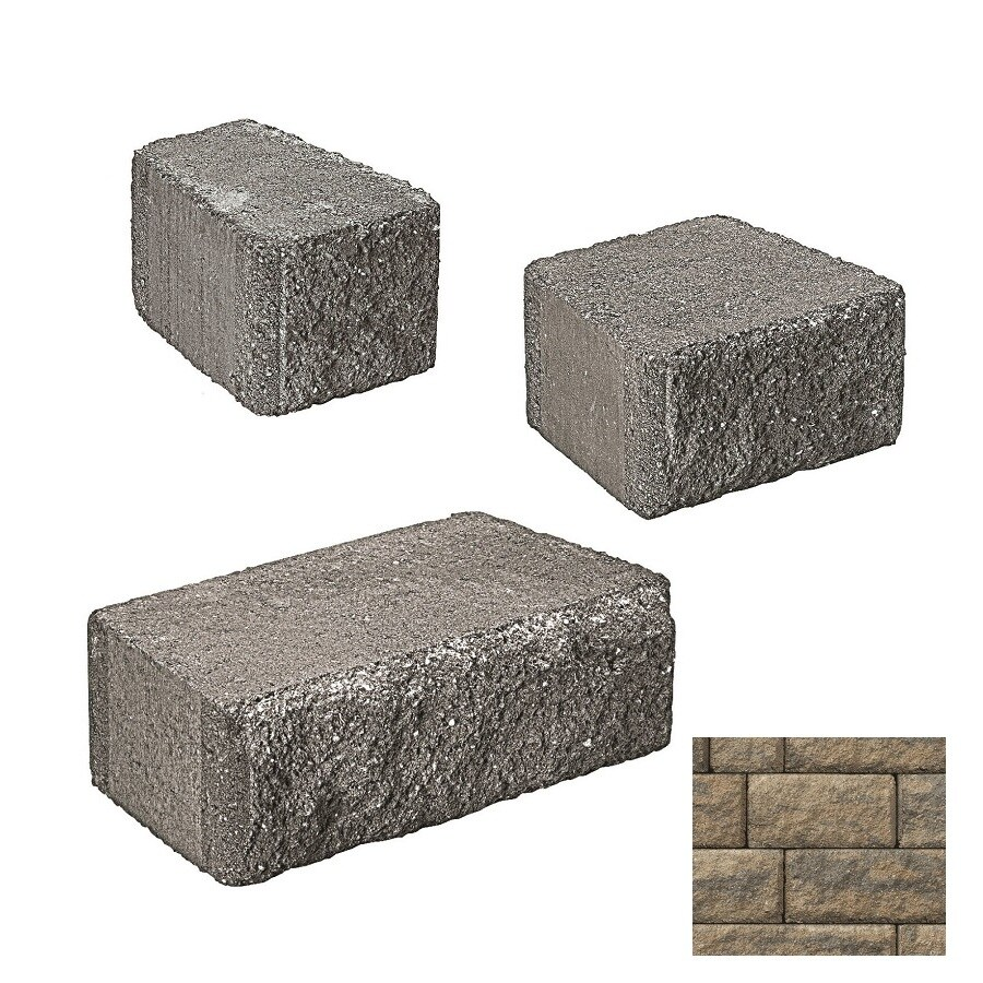 Belgard Anchor Highland Cotswold Mist Retaining Wall Block (Common: 6-in x 2-in; Actual: 6-in x 1.5-in)
